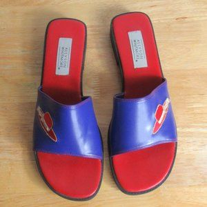 Allyson Whitmore Red Hat Shoes Slides Size 9 M